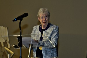 "Shirliann ""Fritzi"" Johnson responds after receiving the World Methodist Peace Award."