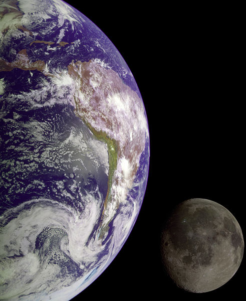 Earth and Moon. Photo credit: NASA