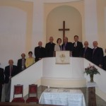 MEOR Stakeholders at Ponte Sant`Angelo Church before the Launch Service.